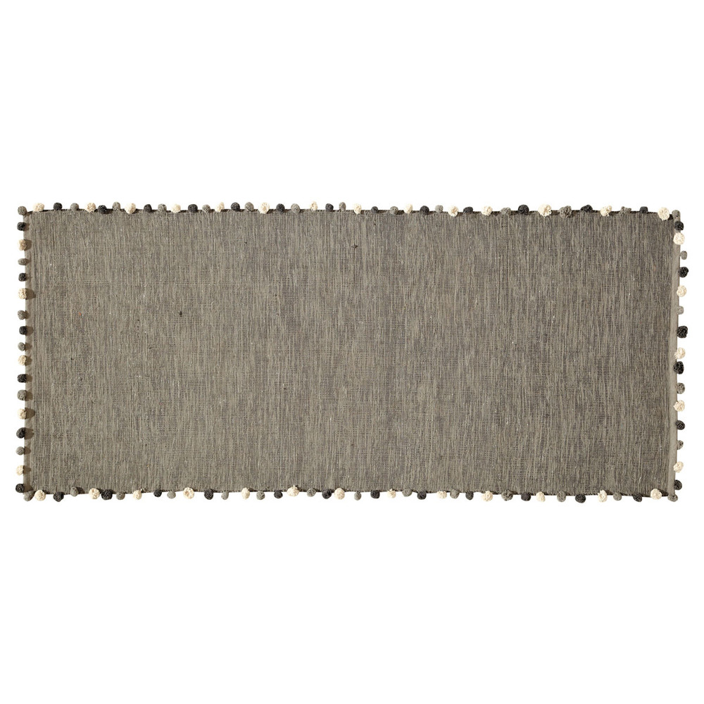 Baumwollteppich, 80x200, grau