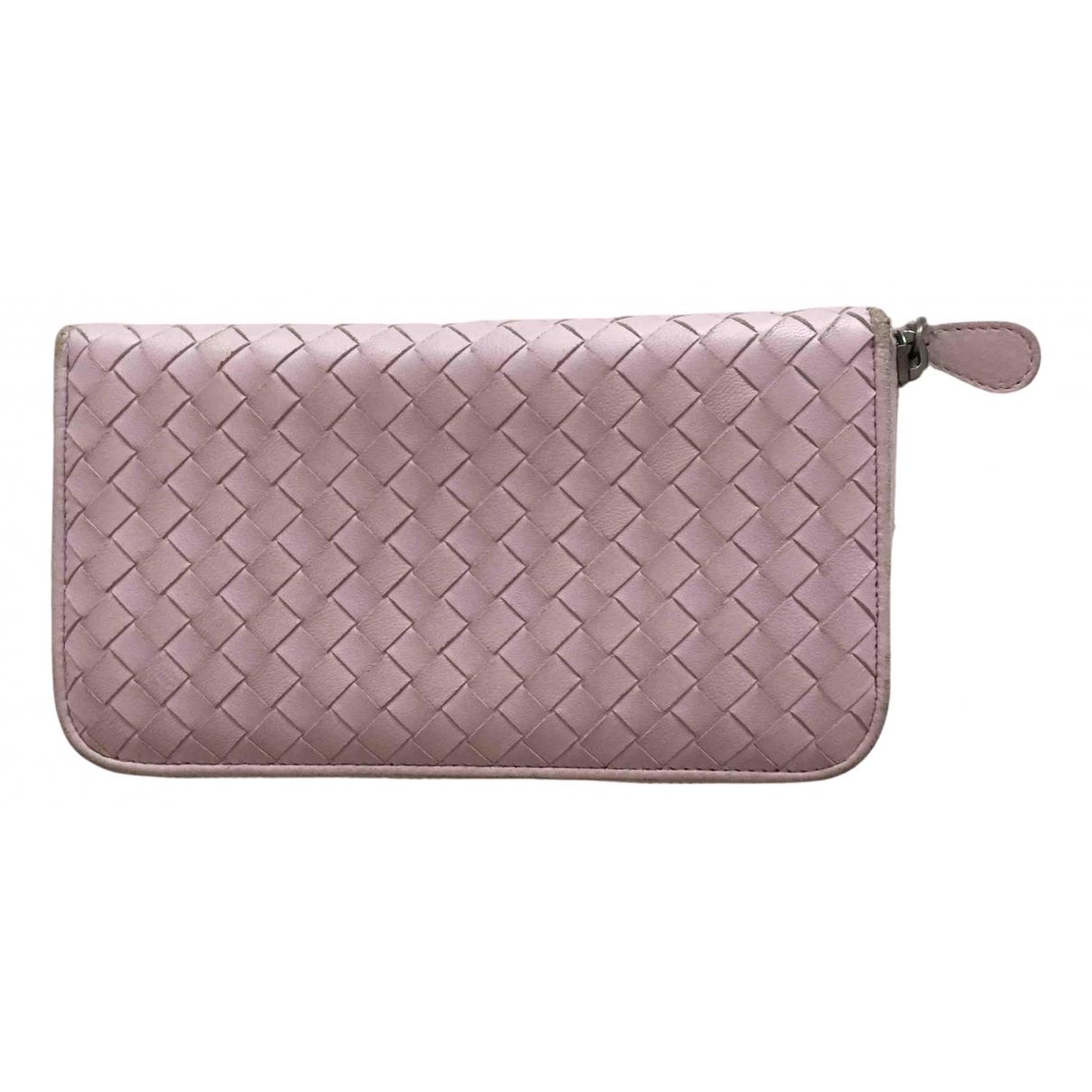 Bottega Veneta - Petite maroquinerie   pour femme en cuir - rose