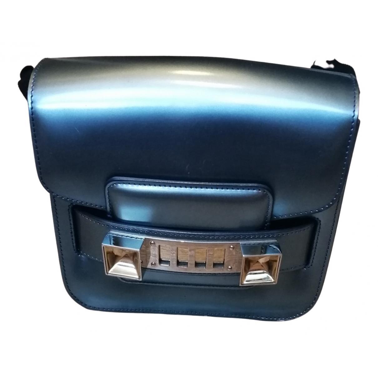Proenza Schouler - Sac a main PS11 pour femme en cuir verni - metallise