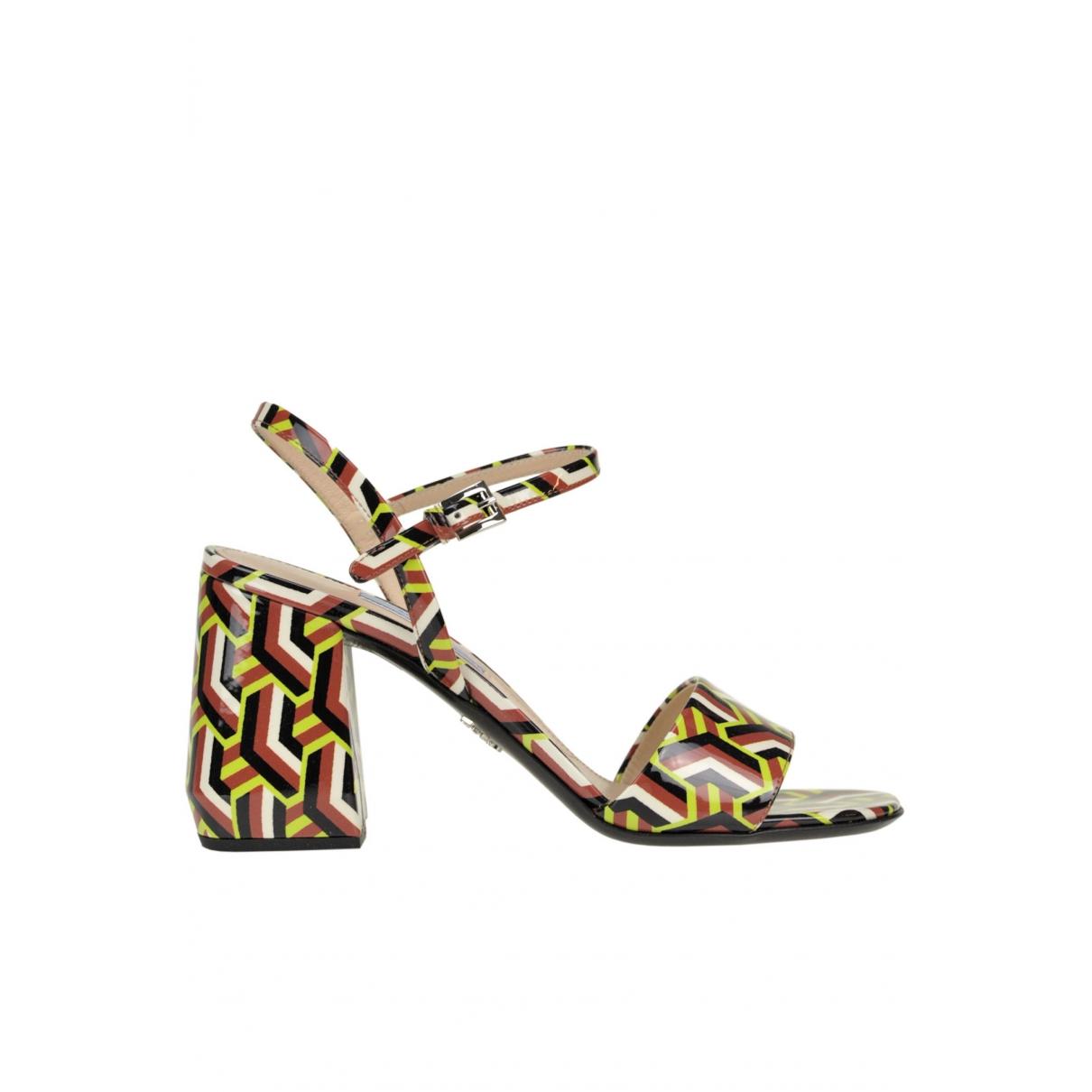 Prada \N Multicolour Patent leather Sandals for Women 37.5 EU