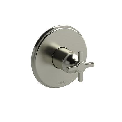 Momenti TMMRD51+BN Pressure Balance Valve Trim with + Cross Handles  in Brushed