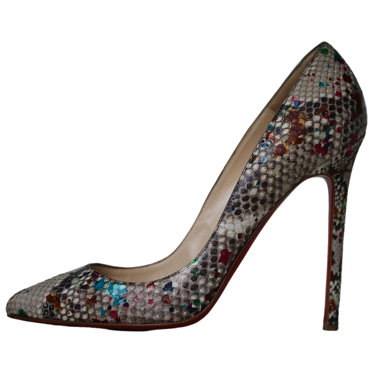 Christian Louboutin N Multicolour Exotic leathers Heels for Women 37.5 EU