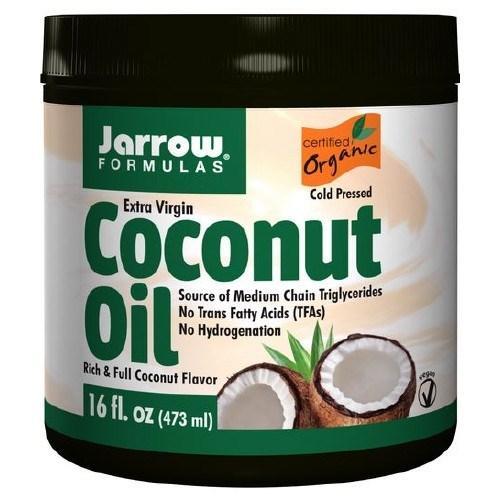Coconut Oil 100% Organic Extra Virgin 454 gms by Jarrow Formulas