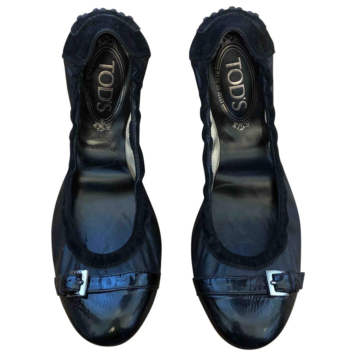Tod's N Black Leather Ballet flats for Women 39 EU