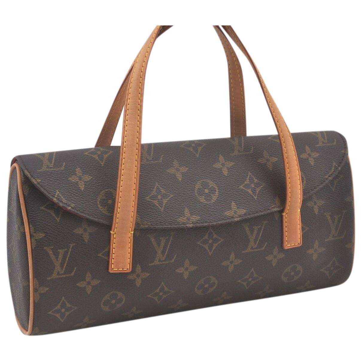 Louis Vuitton - Sac a main Sonatine pour femme en toile - marron