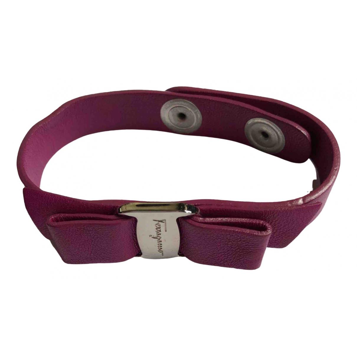 Salvatore Ferragamo - Bracelet   pour femme en cuir - violet
