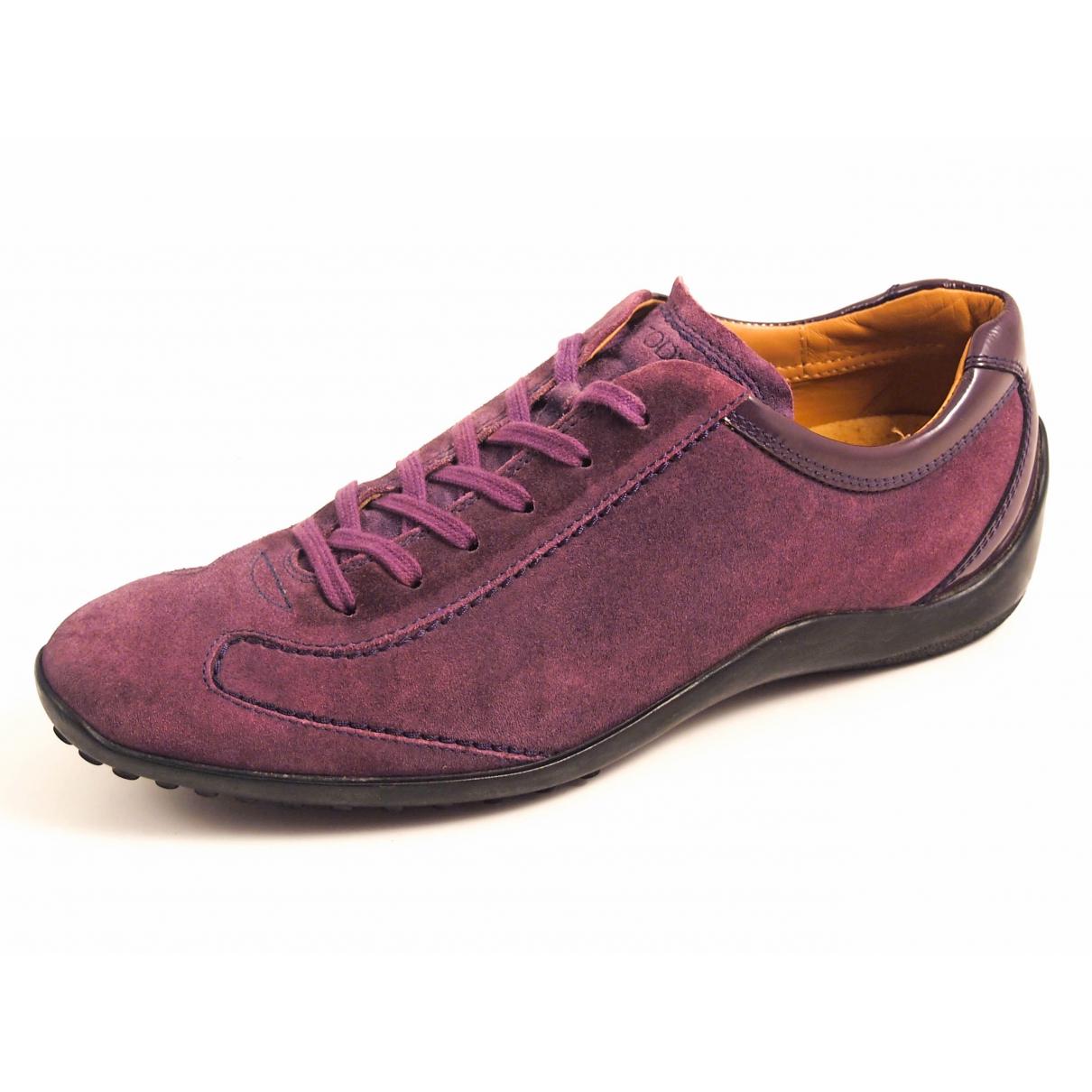 Tods \N Sneakers in  Lila Veloursleder