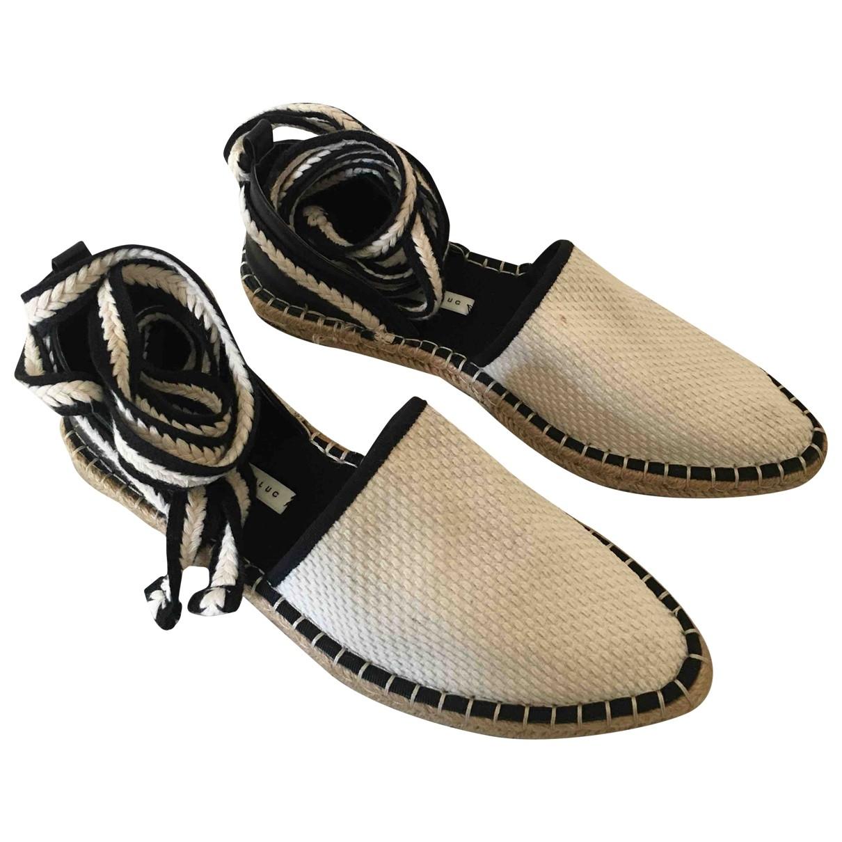 Zara \N Ecru Cloth Espadrilles for Women 38 EU