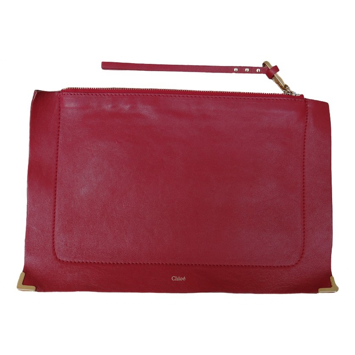 Chloe \N Clutch in  Rot Leder