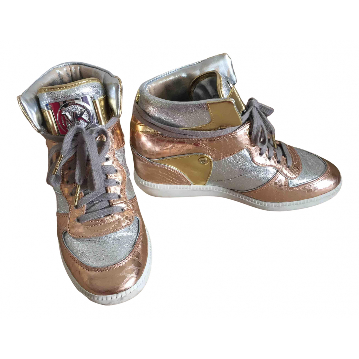 Michael Kors N Multicolour Leather Trainers for Women 8 US