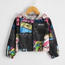 Winddichte Jacke mit Pop Art Muster
