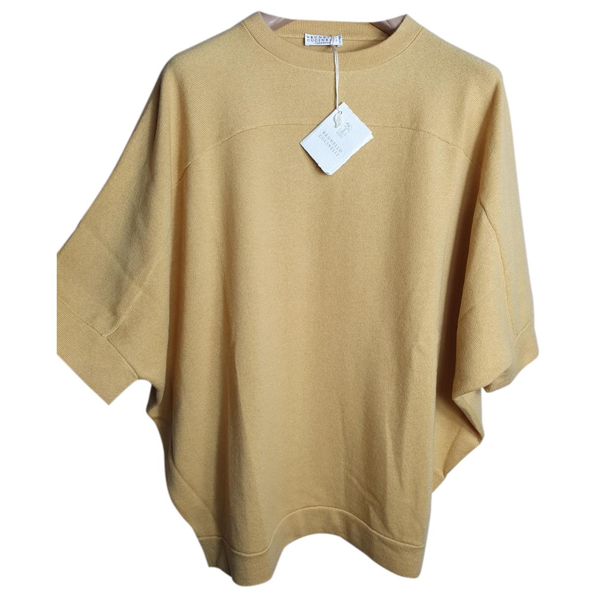 Brunello Cucinelli \N Yellow Cashmere Knitwear for Women 42 IT