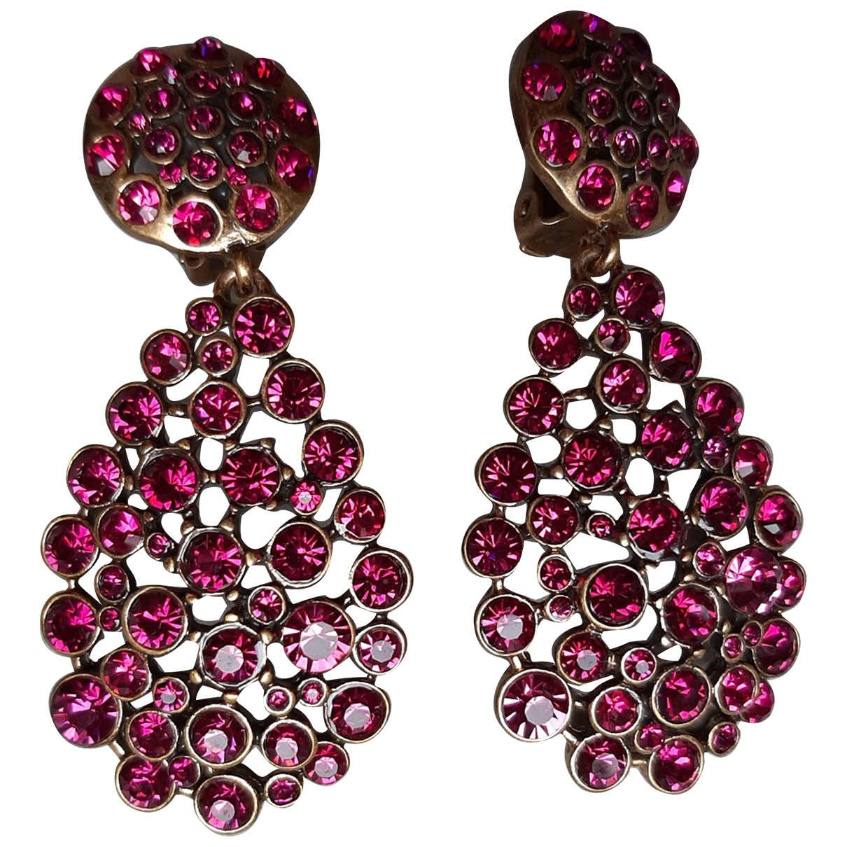 Oscar De La Renta \N Pink Metal Earrings for Women \N