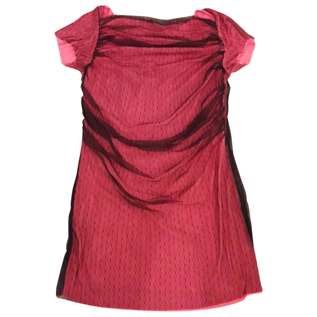 Moschino Cheap And Chic \N Kleid in  Rosa Baumwolle