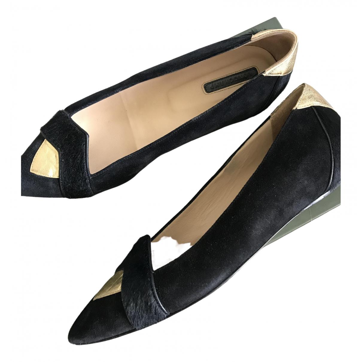 Longchamp - Ballerines   pour femme en cuir - noir