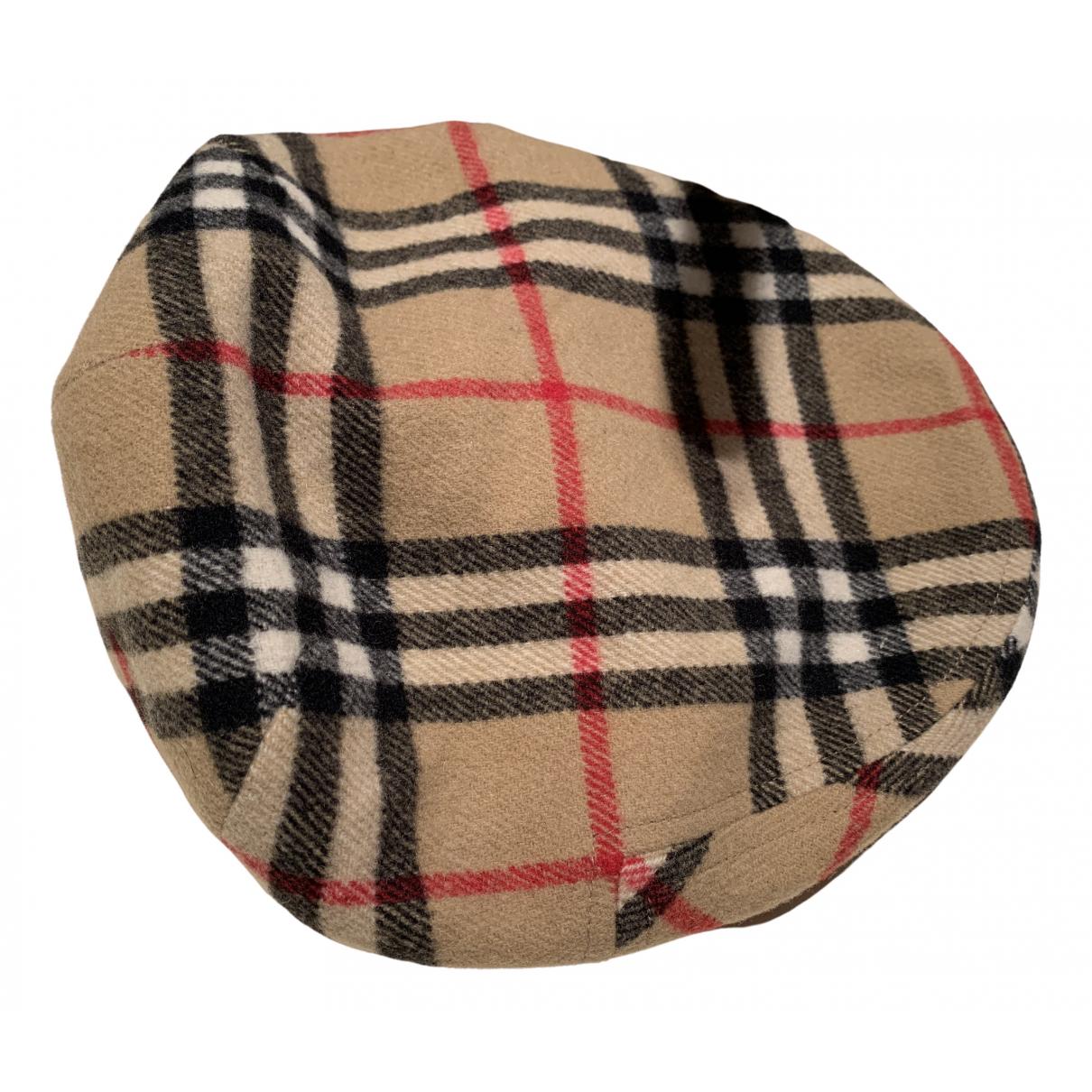 Burberry - Chapeau & Bonnets   pour homme en cachemire - beige