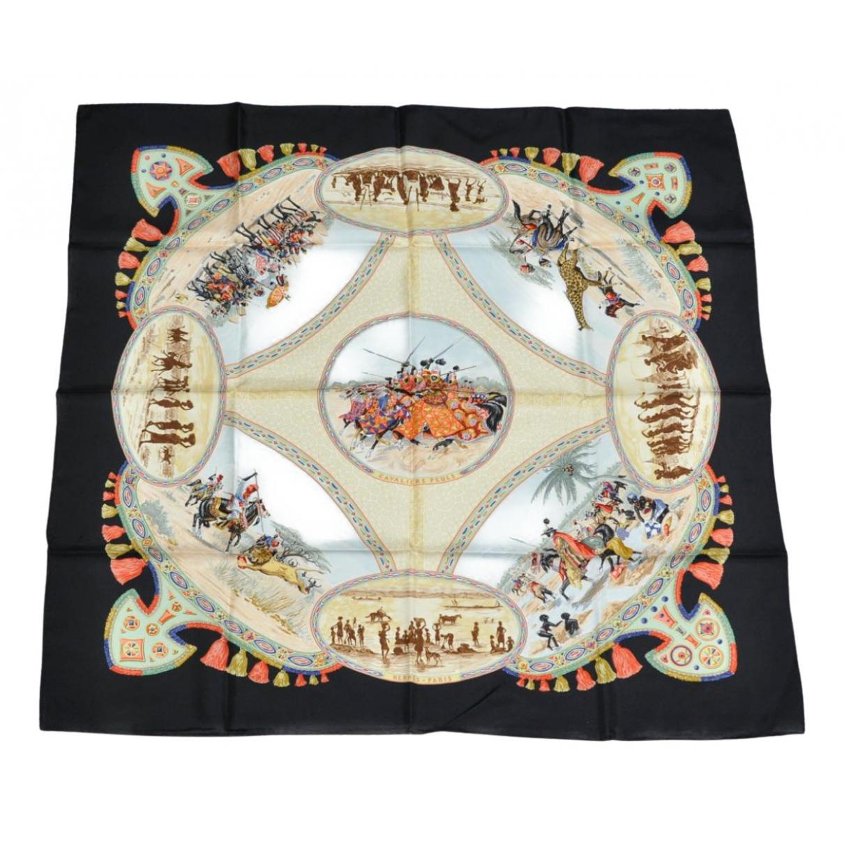 Hermès Carré 90 Black Silk Silk handkerchief for Women N