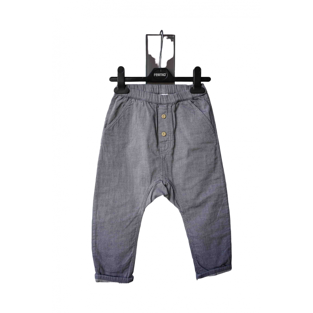 H&m Conscious Exclusive \N Grey Cotton Trousers for Kids 3 years - until 39 inches UK