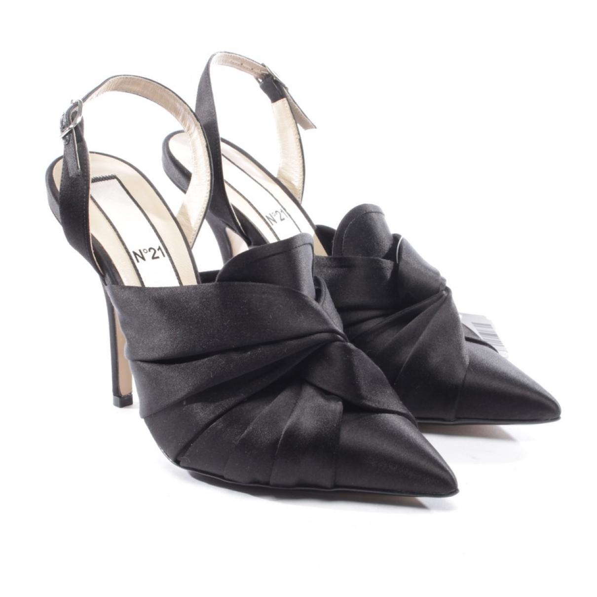 N°21 - Escarpins   pour femme en cuir - noir