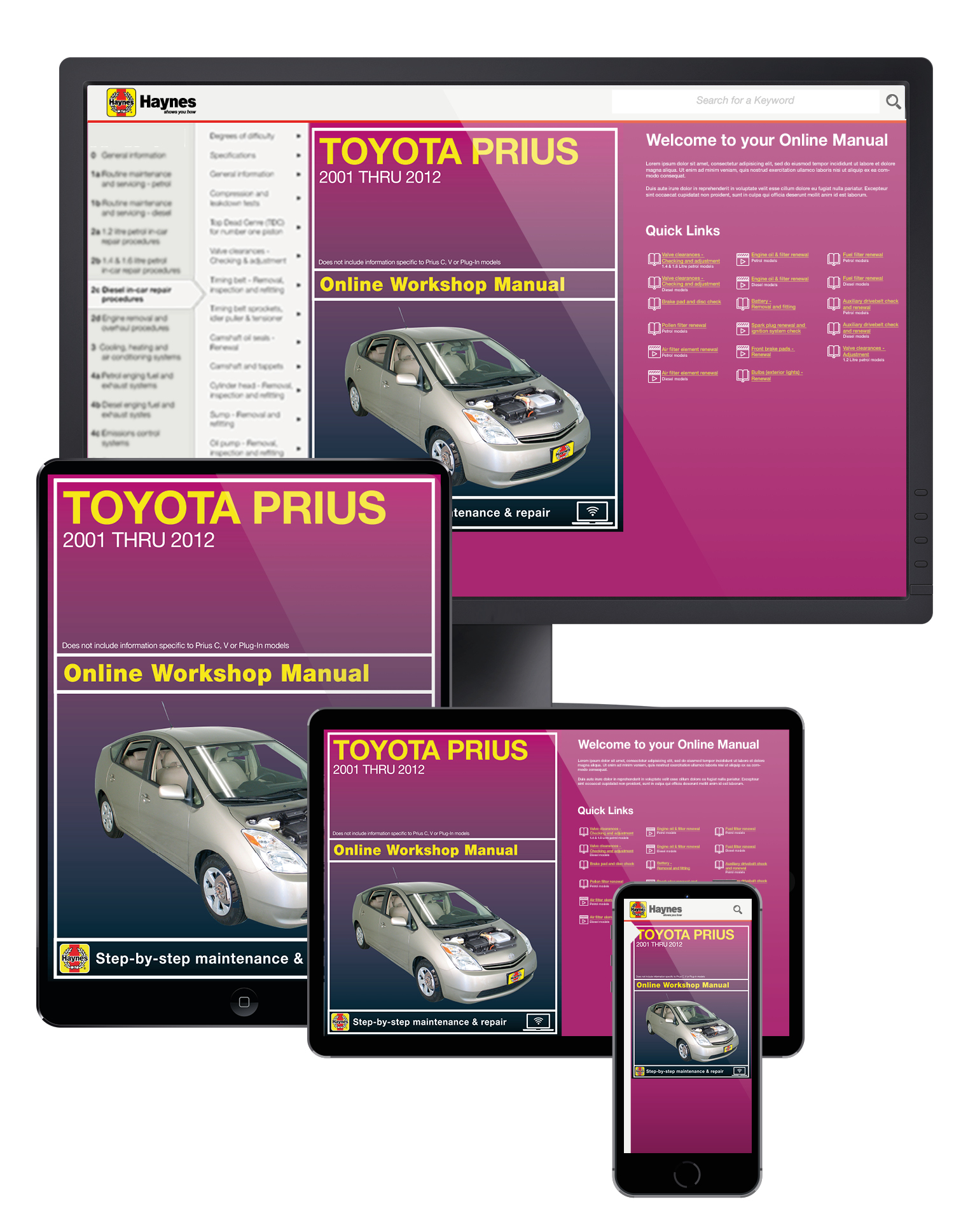 Toyota Prius (01-12) Haynes Online Manual