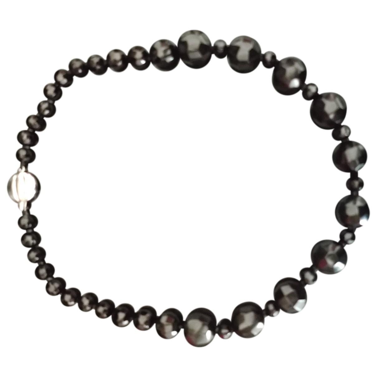 - Boucles doreilles   pour femme en perles - noir