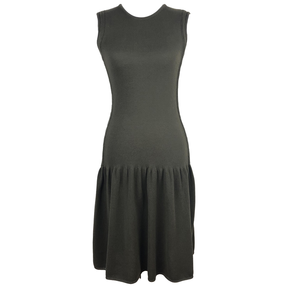 Sport Max \N Kleid in  Khaki Baumwolle