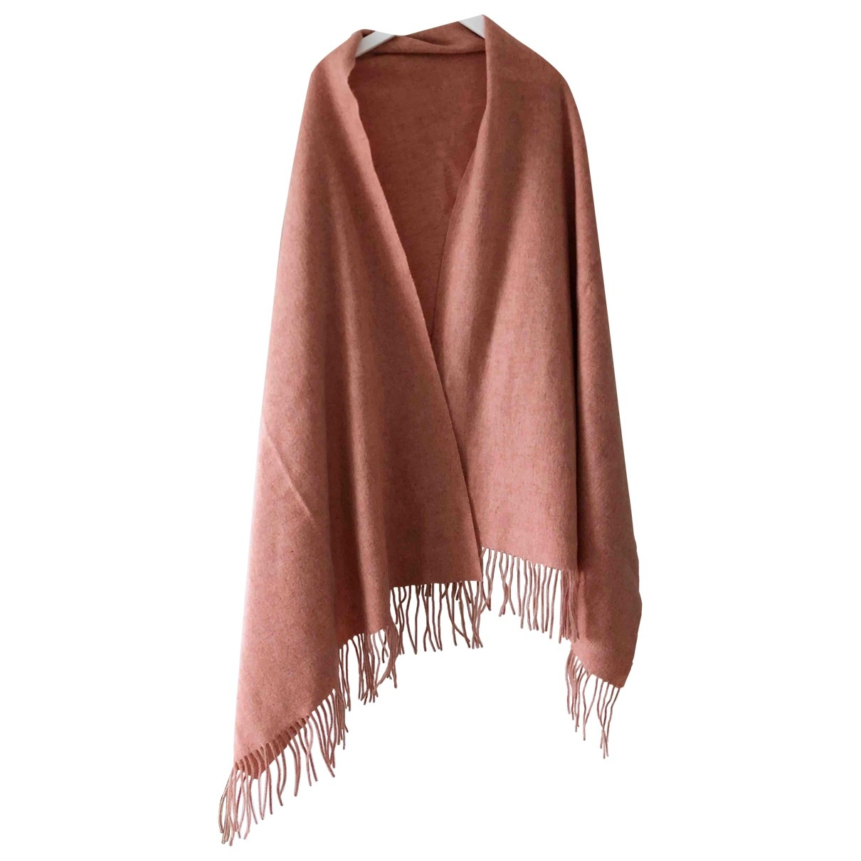 Non Signé / Unsigned \N Pink Wool scarf for Women \N