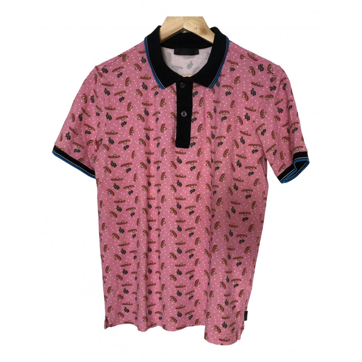 Prada - Polos   pour homme en coton - rose