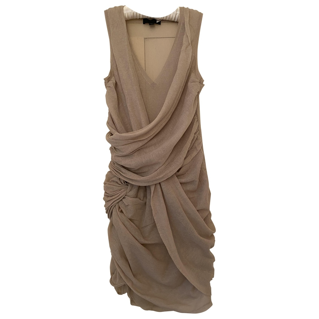 Burberry \N Beige Cotton - elasthane dress for Women 42 IT