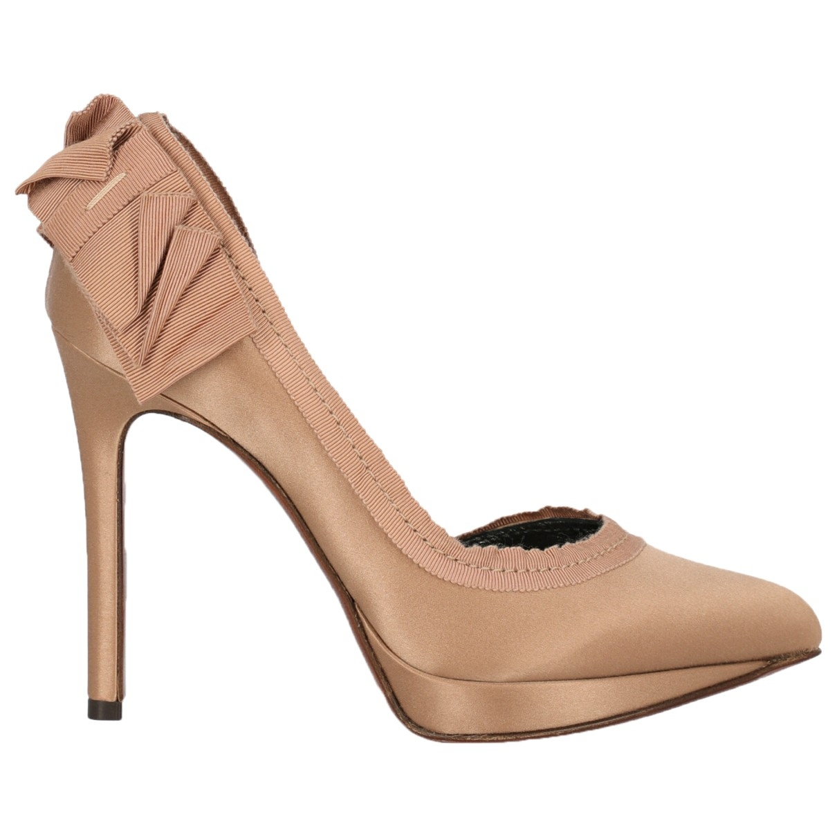 Lanvin \N Pink Cloth Heels for Women 35 IT