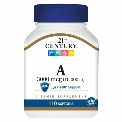 Vitamin A 10000 IU 110 Softgels by 21st Century