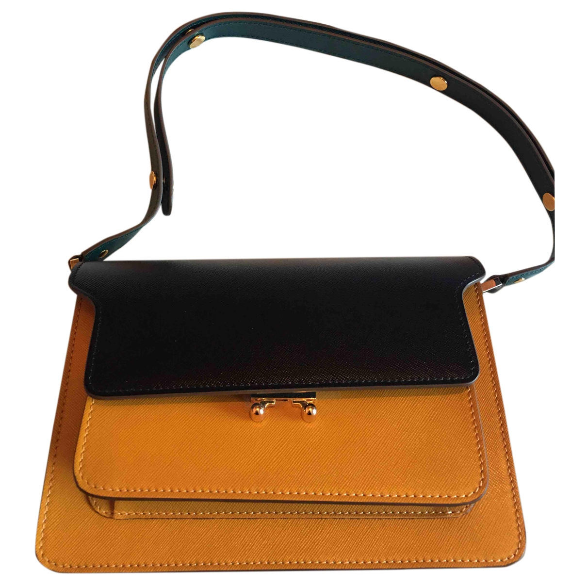 Marni Trunk Green Leather handbag for Women \N