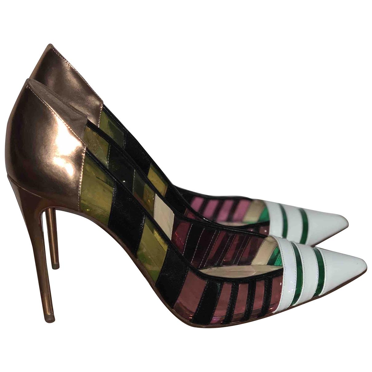 Christian Louboutin - Escarpins   pour femme en cuir verni - multicolore
