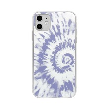 1 pieza funda de iphone con estampado de tie dye
