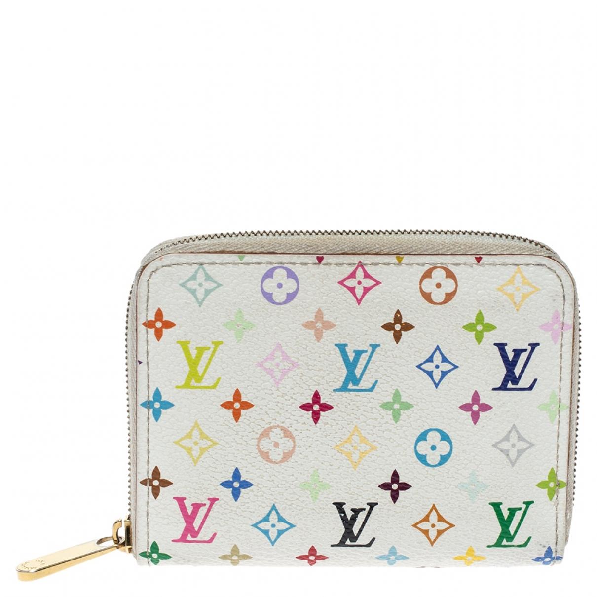 Louis Vuitton Zippy Portemonnaie in  Weiss Leder