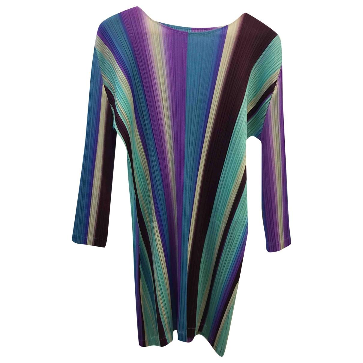 Pleats Please \N Kleid in  Bunt Polyester