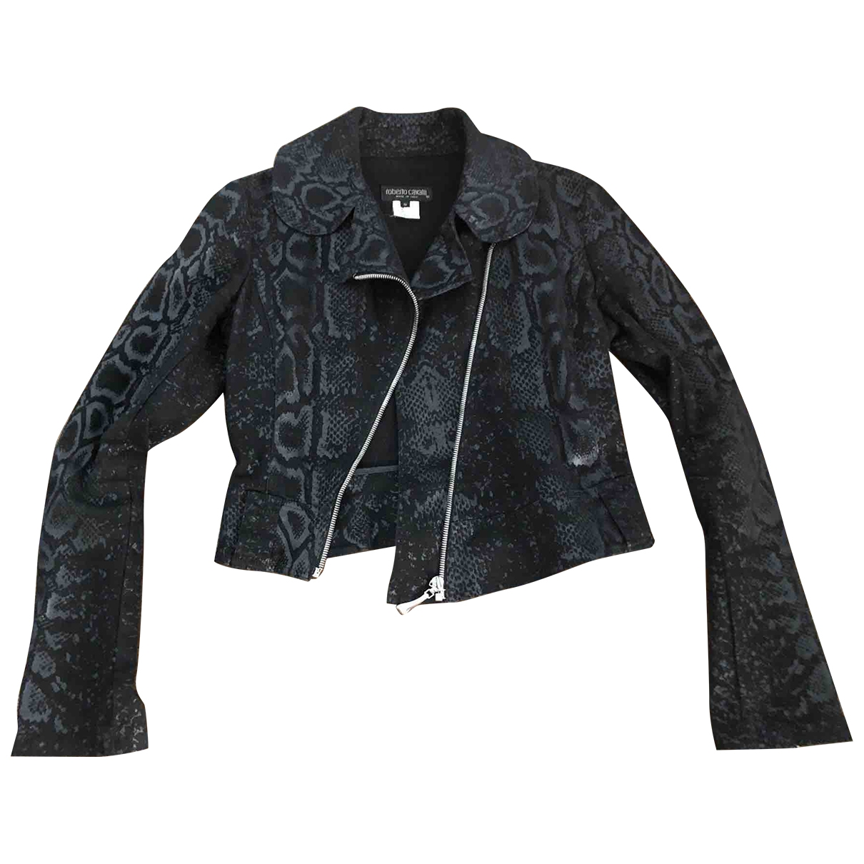 Roberto Cavalli \N Black Cotton jacket for Women 36 IT