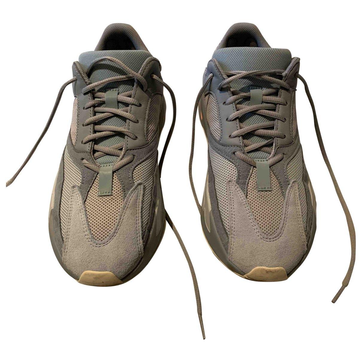 Yeezy X Adidas - Baskets Boost 700 V1  pour homme en cuir - gris