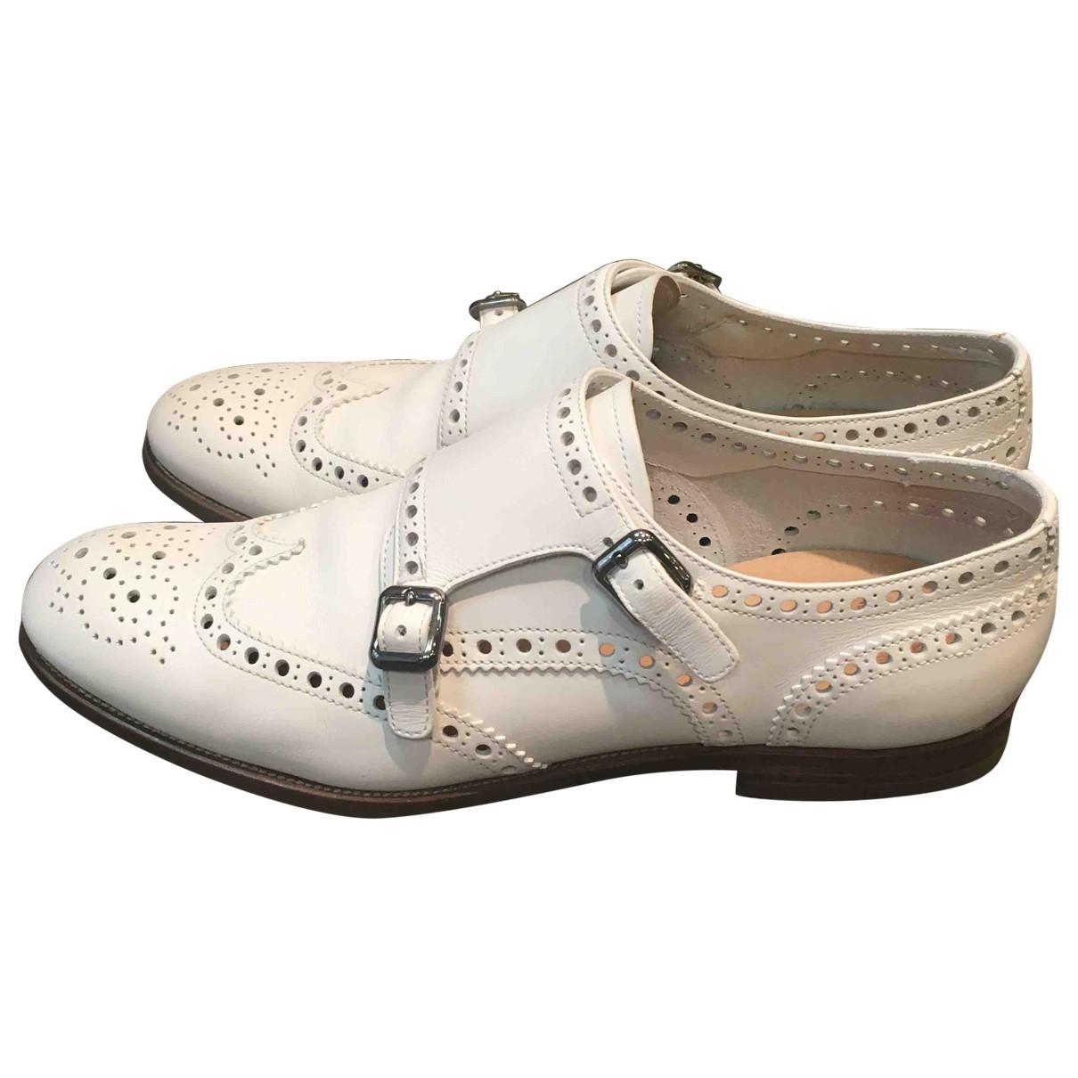 Churchs - Derbies   pour femme en cuir - blanc
