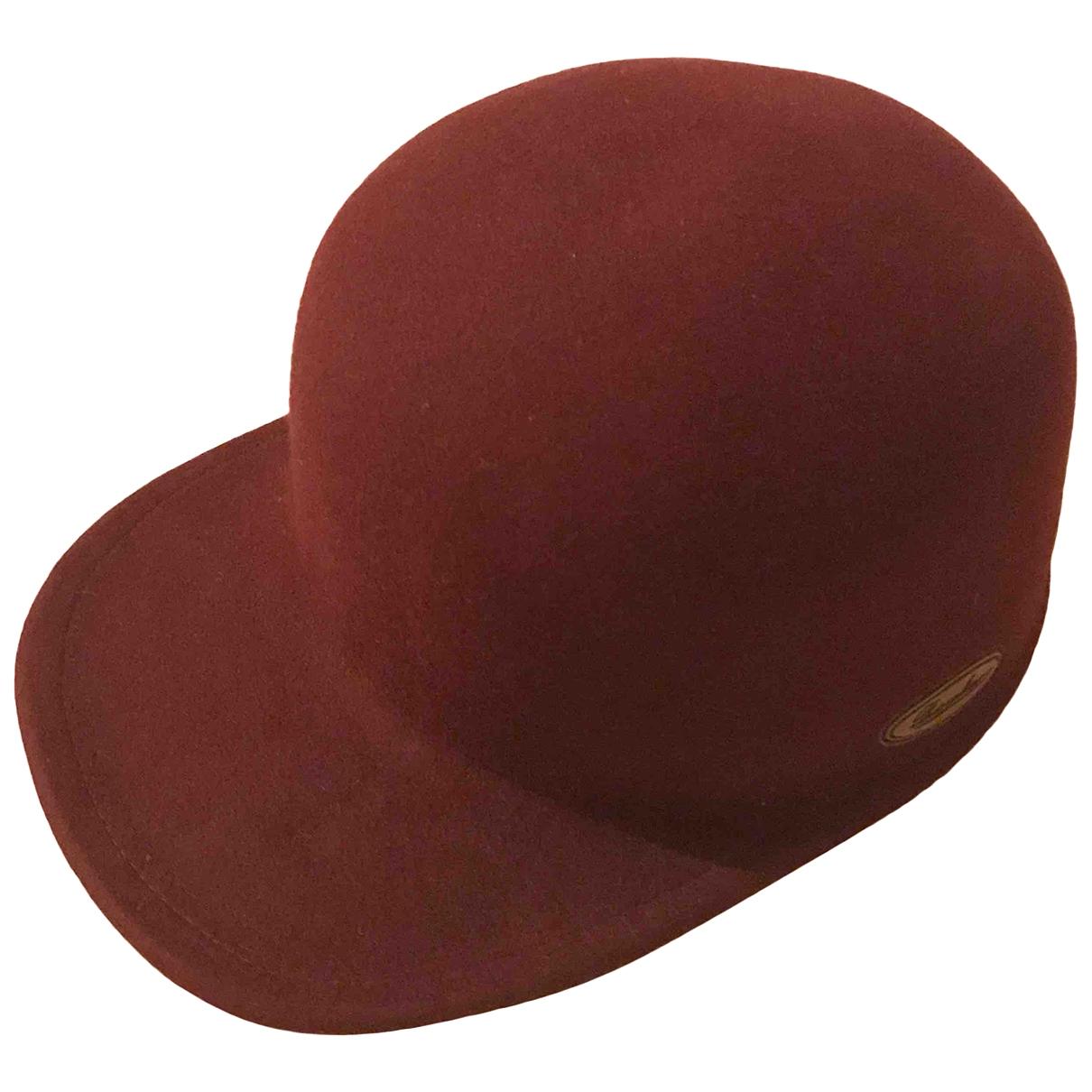 Borsalino - Chapeau & Bonnets   pour homme en laine - bordeaux