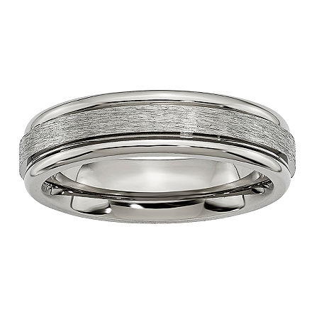 Personalized Mens 6mm Titanium Wedding Band, 10 , No Color Family