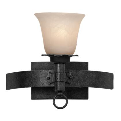 Americana 4201B/PS15 1-Light Bath in Black with Penshell Natural Option 15 Glass