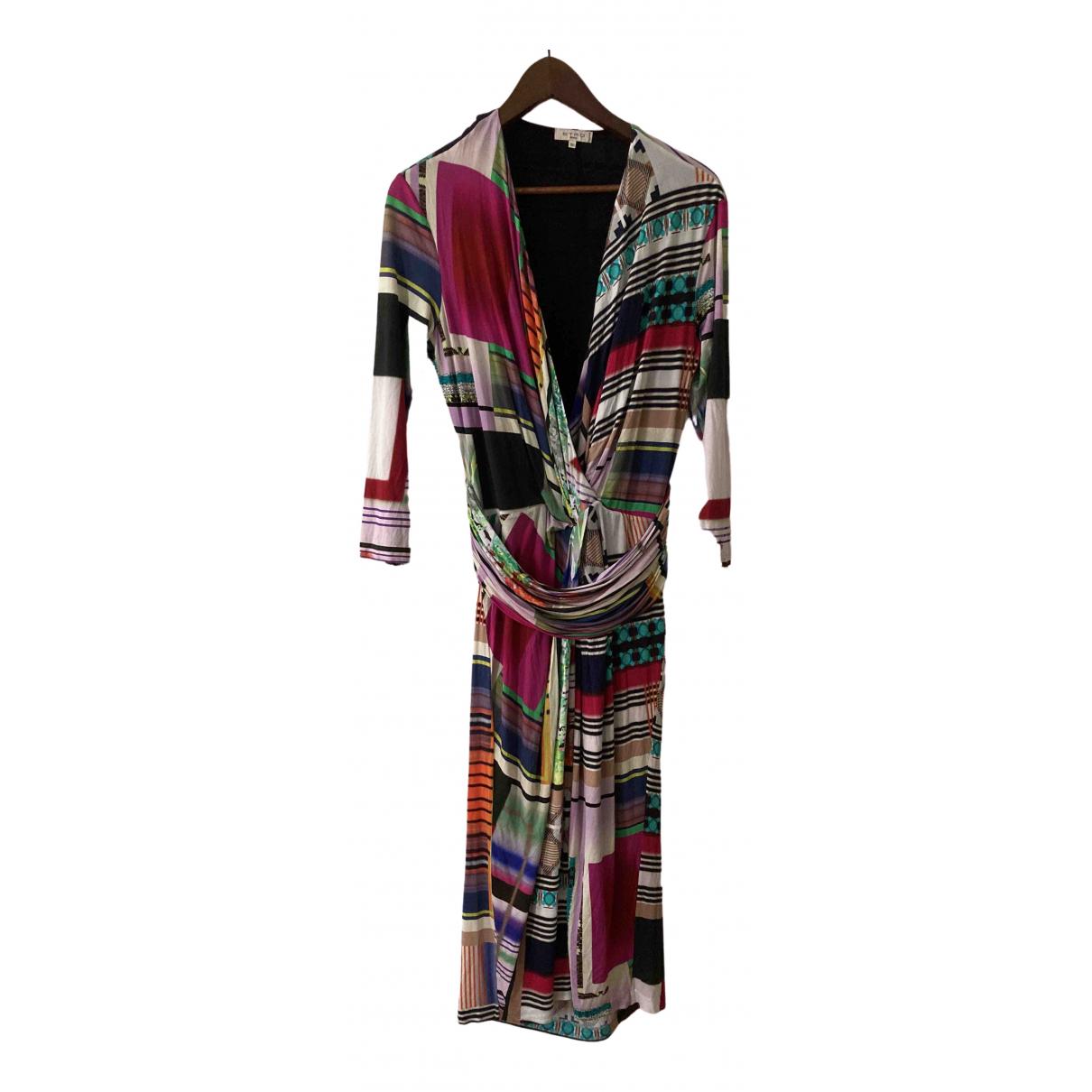 Etro \N Kleid in  Bunt Leinen