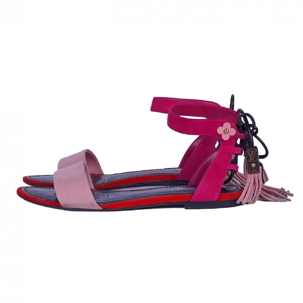 Louis Vuitton \N Sandalen in  Rosa Veloursleder