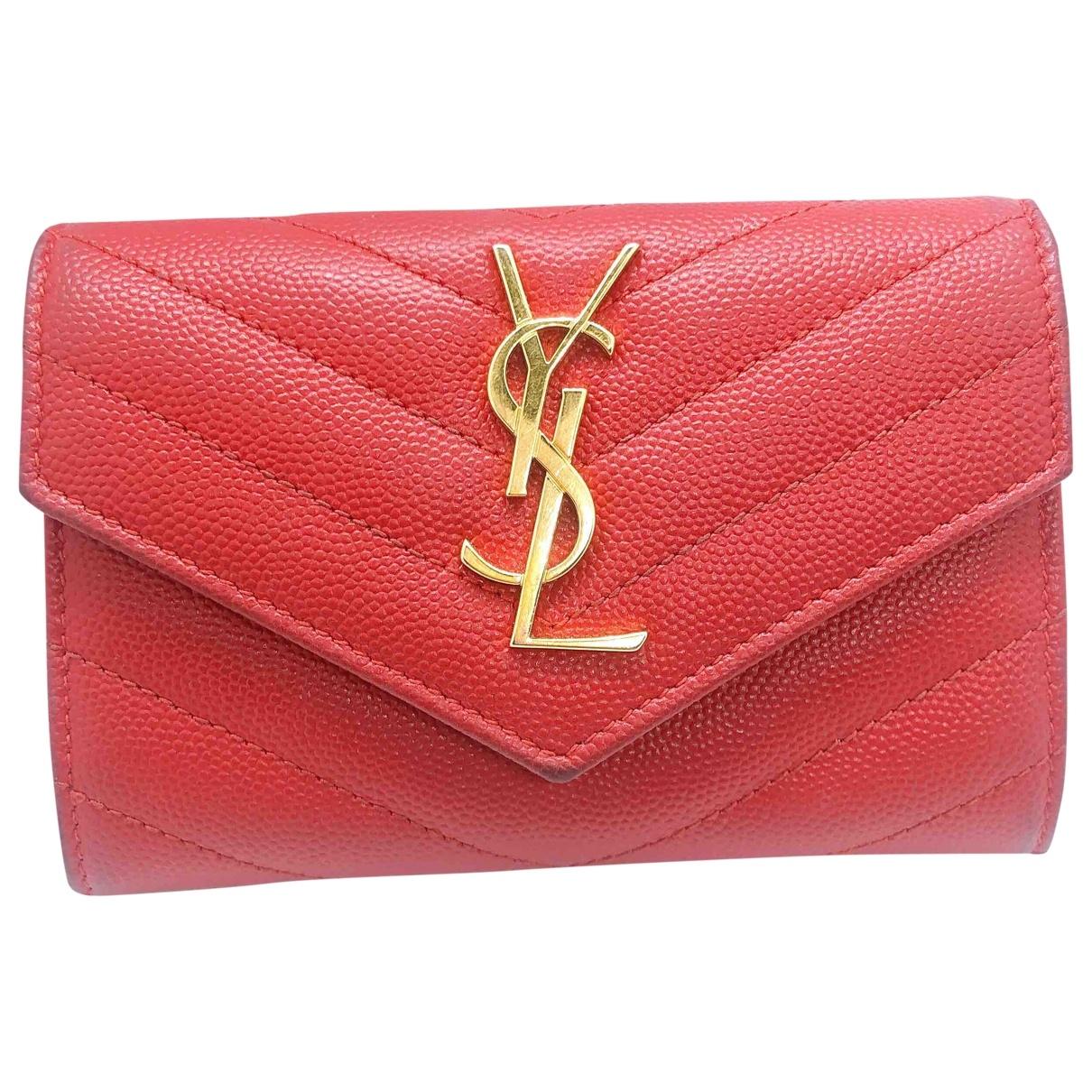 Yves Saint Laurent \N Red Leather wallet for Women \N