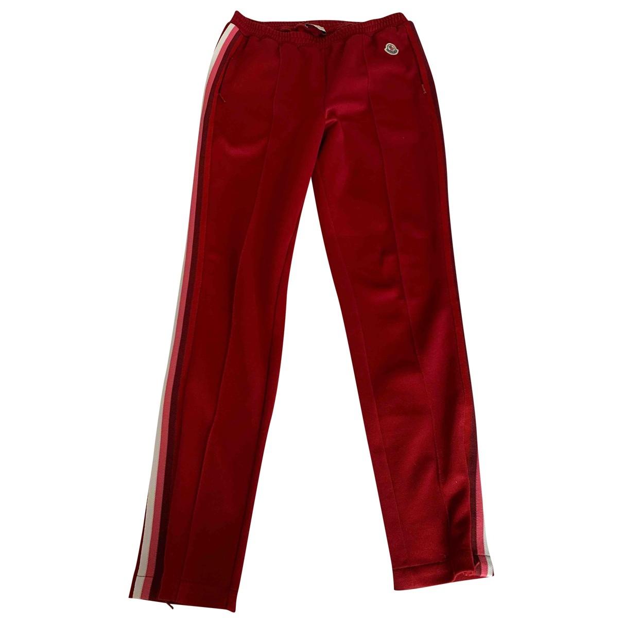 Moncler \N Burgundy Trousers for Women XS International