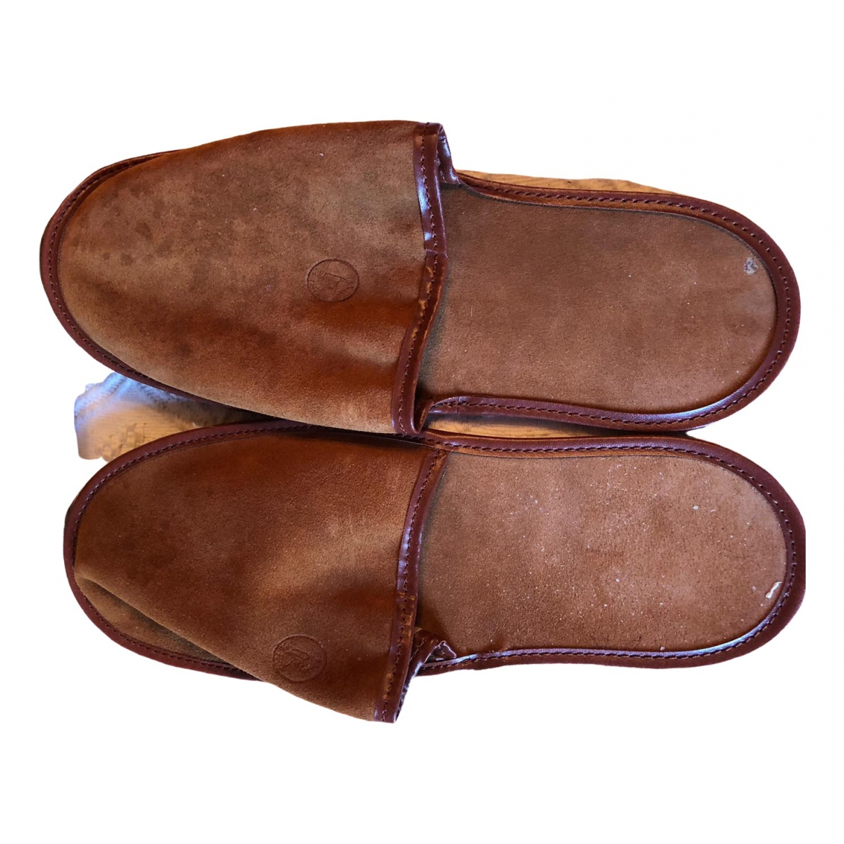Non Signé / Unsigned \N Brown Suede Sandals for Men 43.5 EU