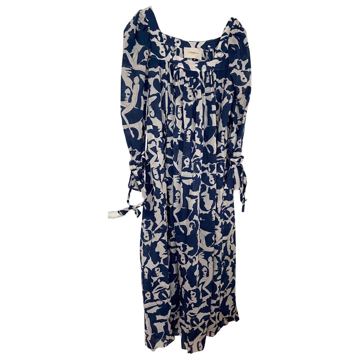 La Double J \N Blue Cotton dress for Women 36 FR