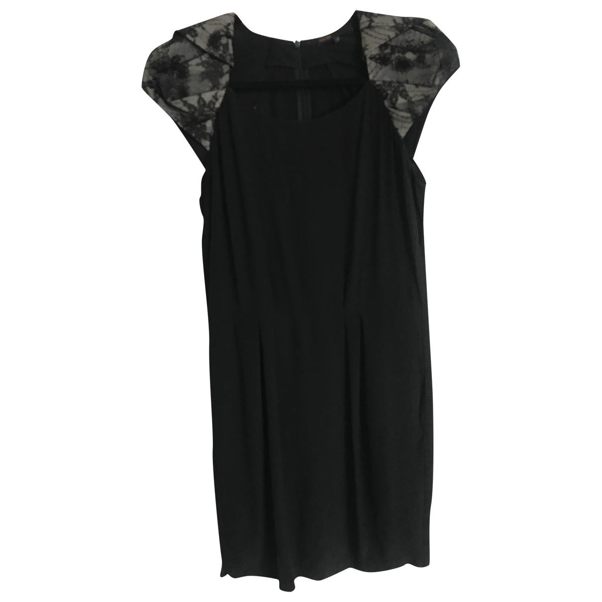 Maje - Robe   pour femme en soie - noir