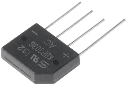 Taiwan Semiconductor KBP303G C2, Bridge Rectifier, 3A 200V, 4-Pin KBP (10)